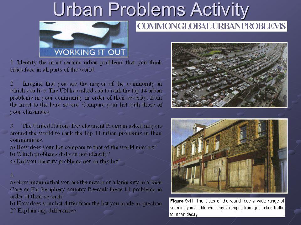 Urban Problems Activity