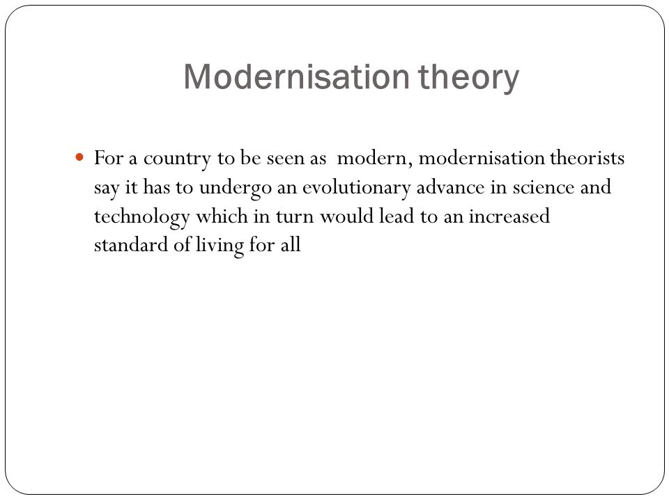 Modernisation theory