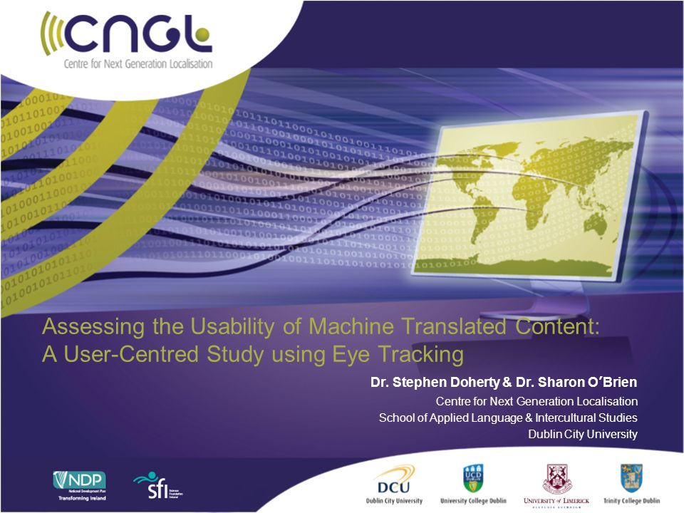 Assessing the Usability of Machine Translated Content: A User-Centred Study using Eye Tracking