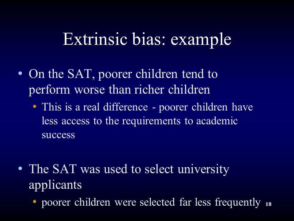 Extrinsic bias: example