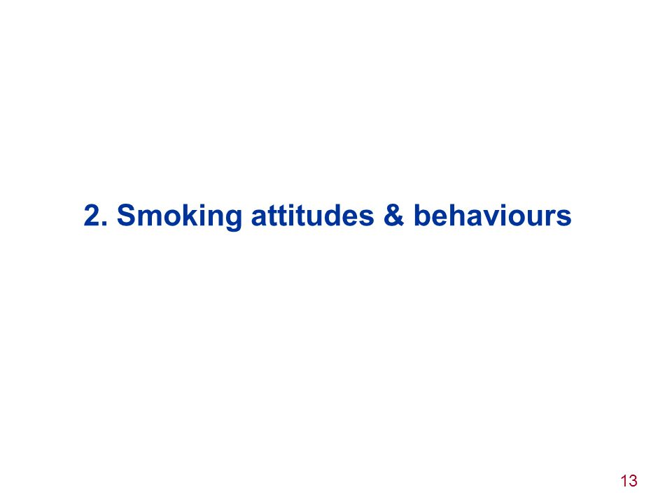 2. Smoking attitudes & behaviours