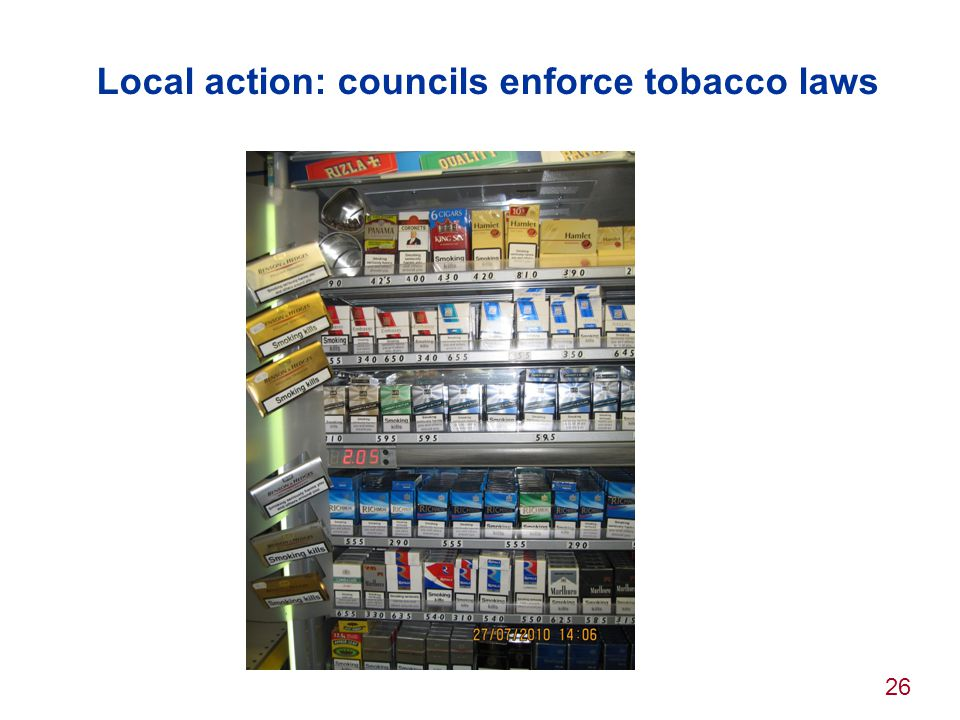 Local action: councils enforce tobacco laws