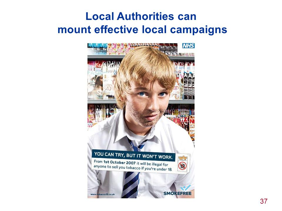 Local Authorities can mount effective local campaigns