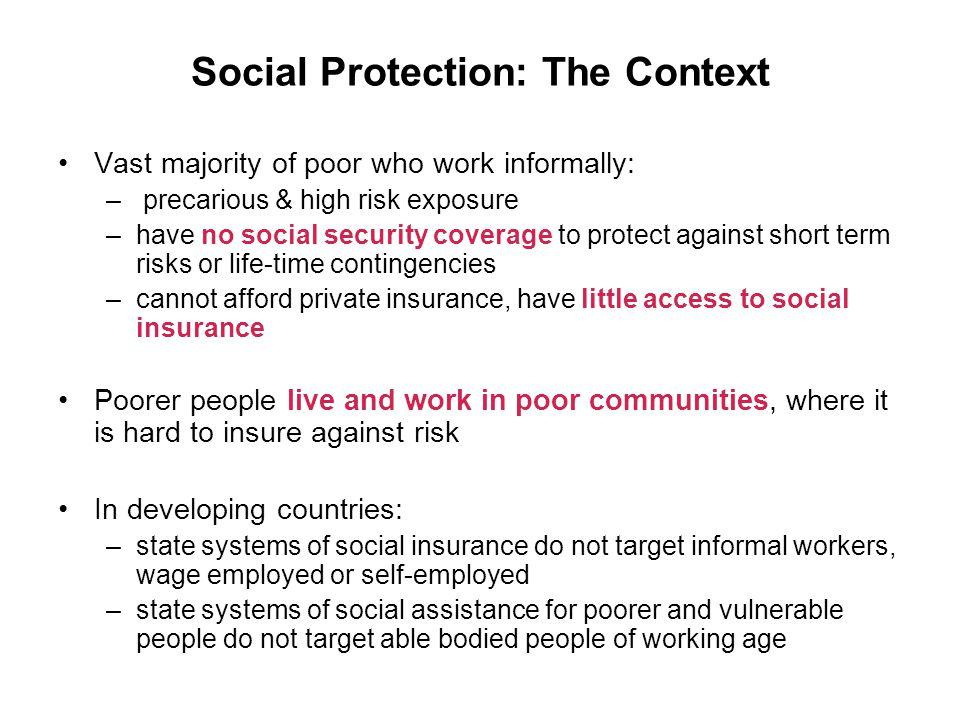 Social Protection: The Context