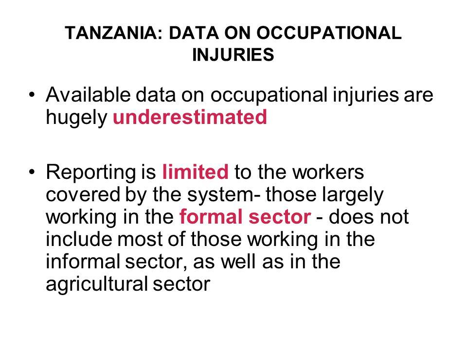 TANZANIA: DATA ON OCCUPATIONAL INJURIES