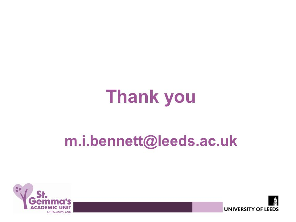 Thank you m.i.bennett@leeds.ac.uk