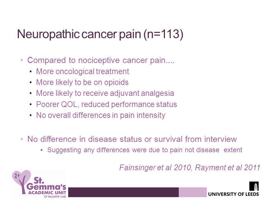 Neuropathic cancer pain (n=113)