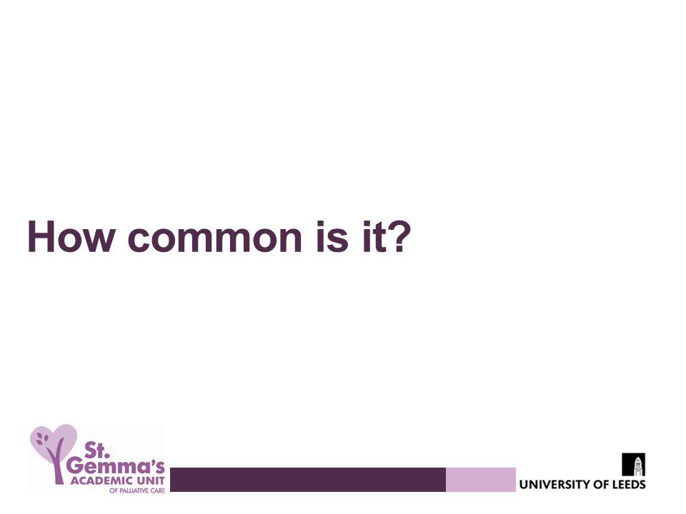 How common is it