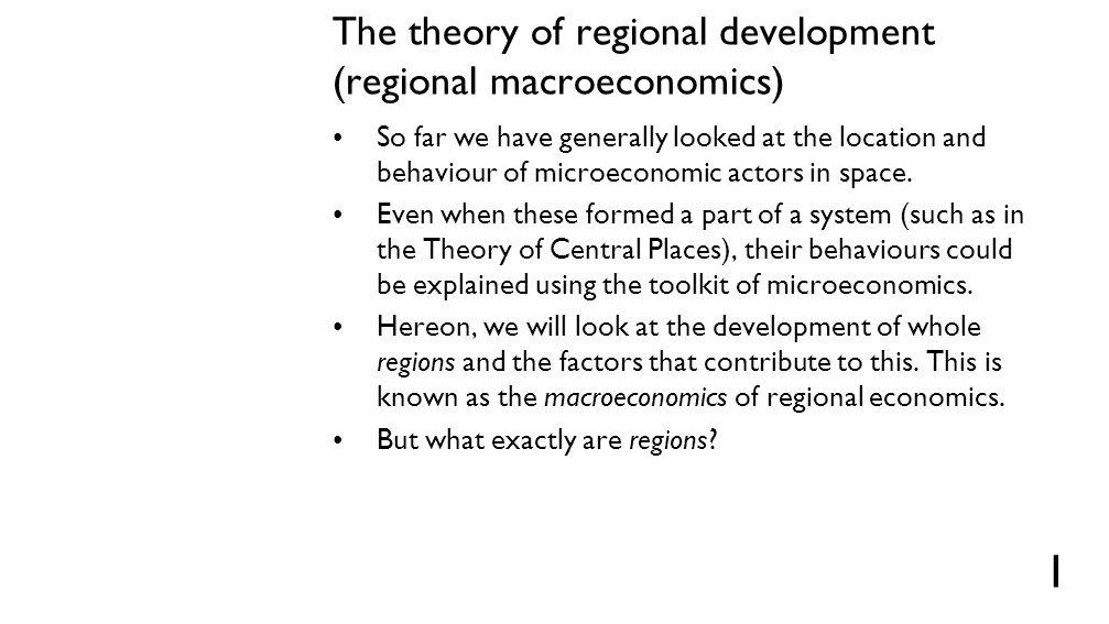 Regions – homogenous regions