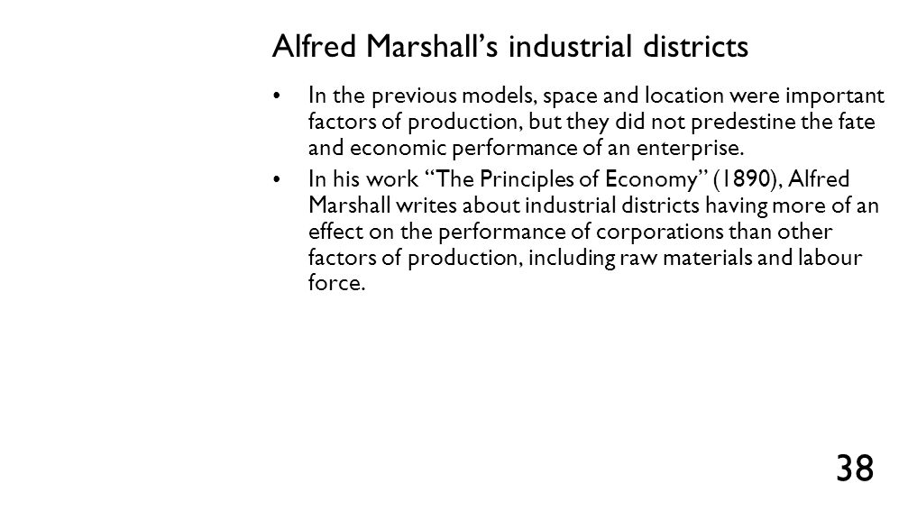 Alfred Marshall's industrial districts