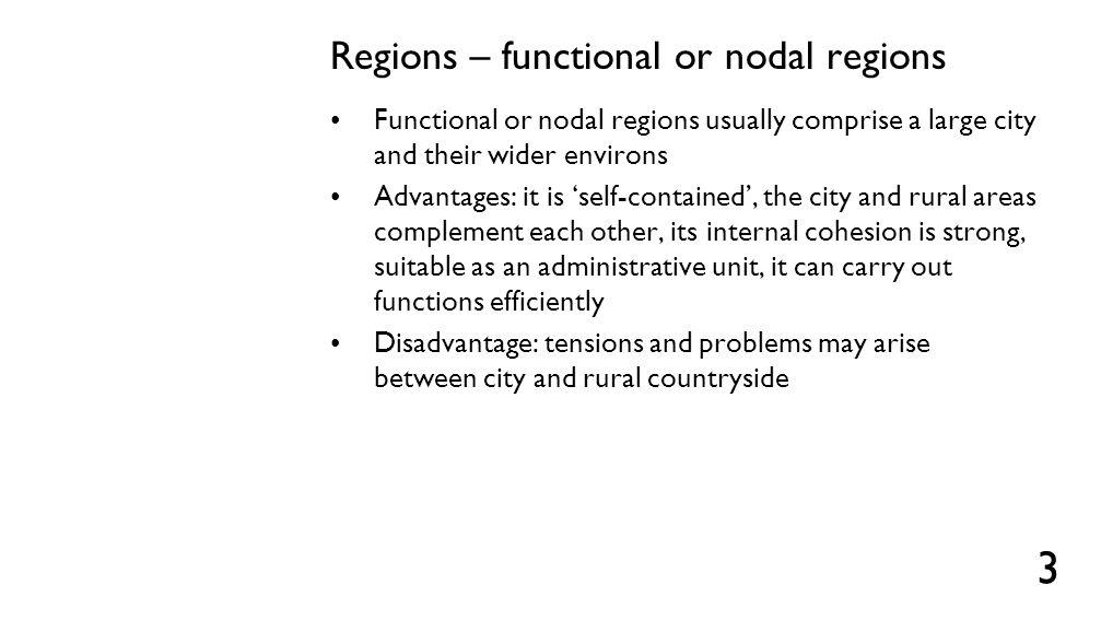 Regions – planning or programming regions