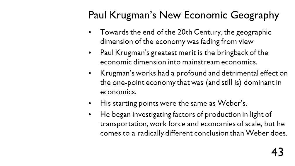 Paul Krugman's New Economic Geography