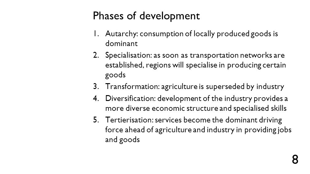 Critiques of the phases of development