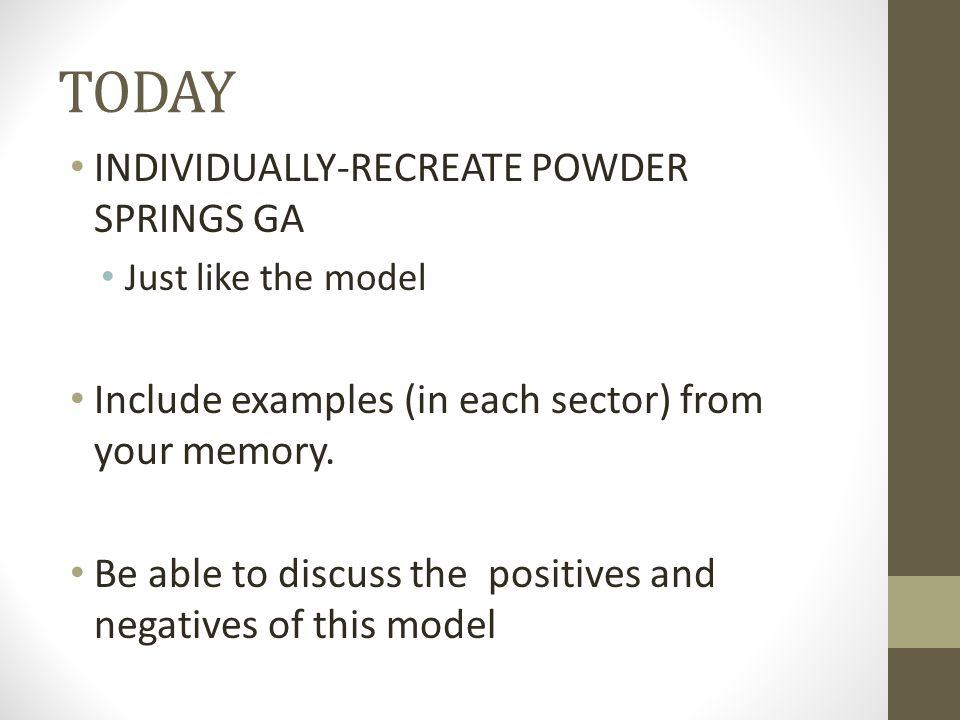 TODAY INDIVIDUALLY-RECREATE POWDER SPRINGS GA