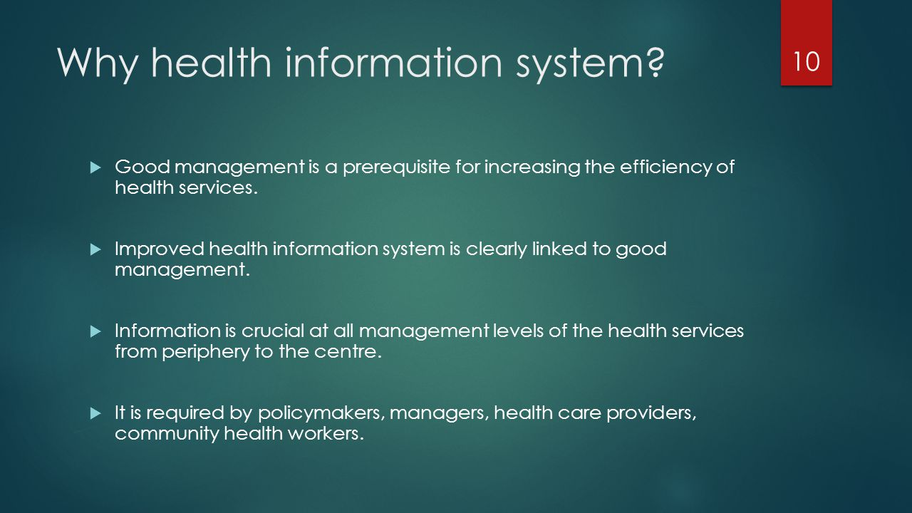 Why health information system