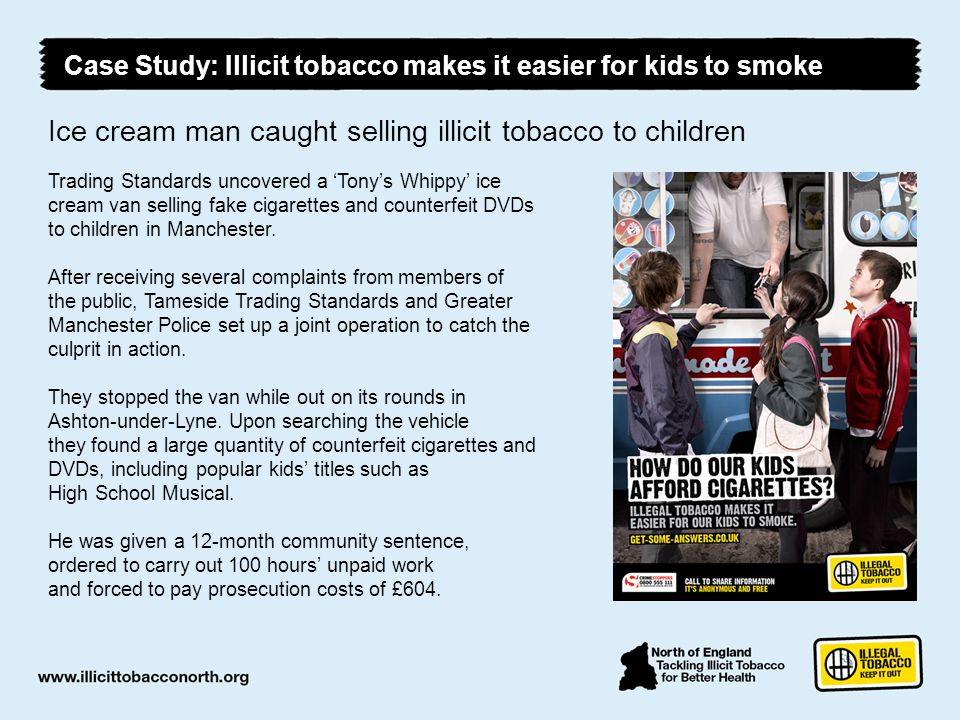 Ice cream man caught selling illicit tobacco to children