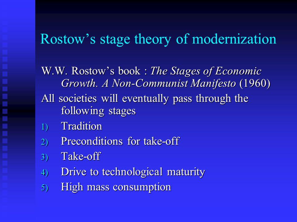 Rostow's stage theory of modernization