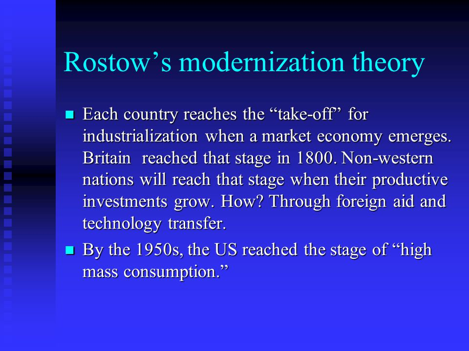 rostows modernization theory article