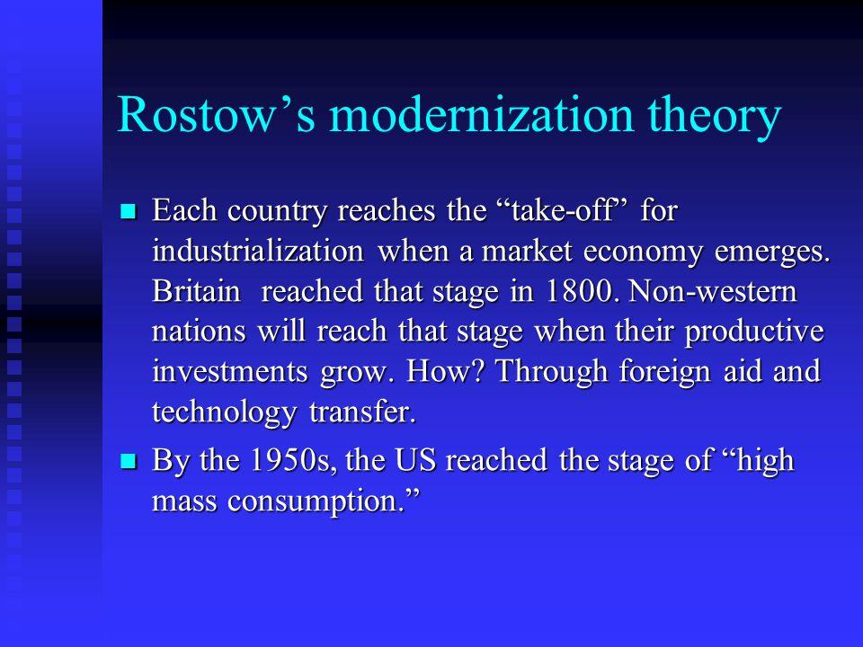 Rostow's modernization theory