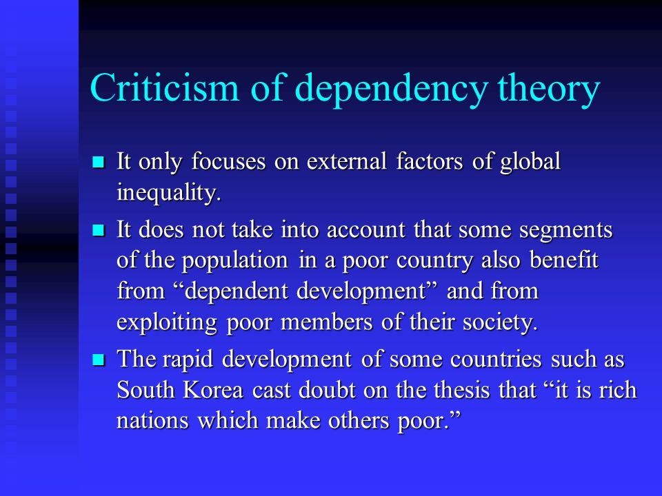Criticism of dependency theory