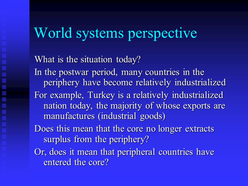 World systems perspective