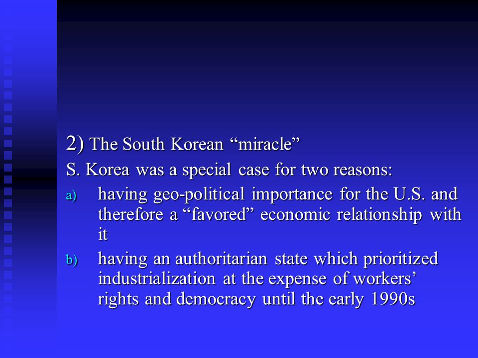 2) The South Korean miracle