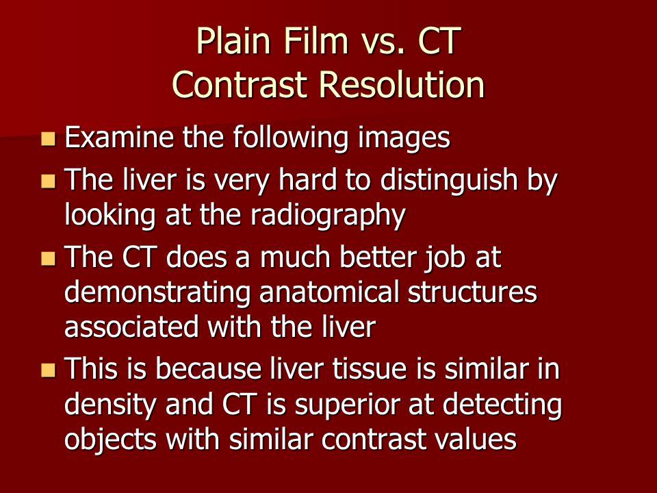 Plain Film vs. CT Contrast Resolution
