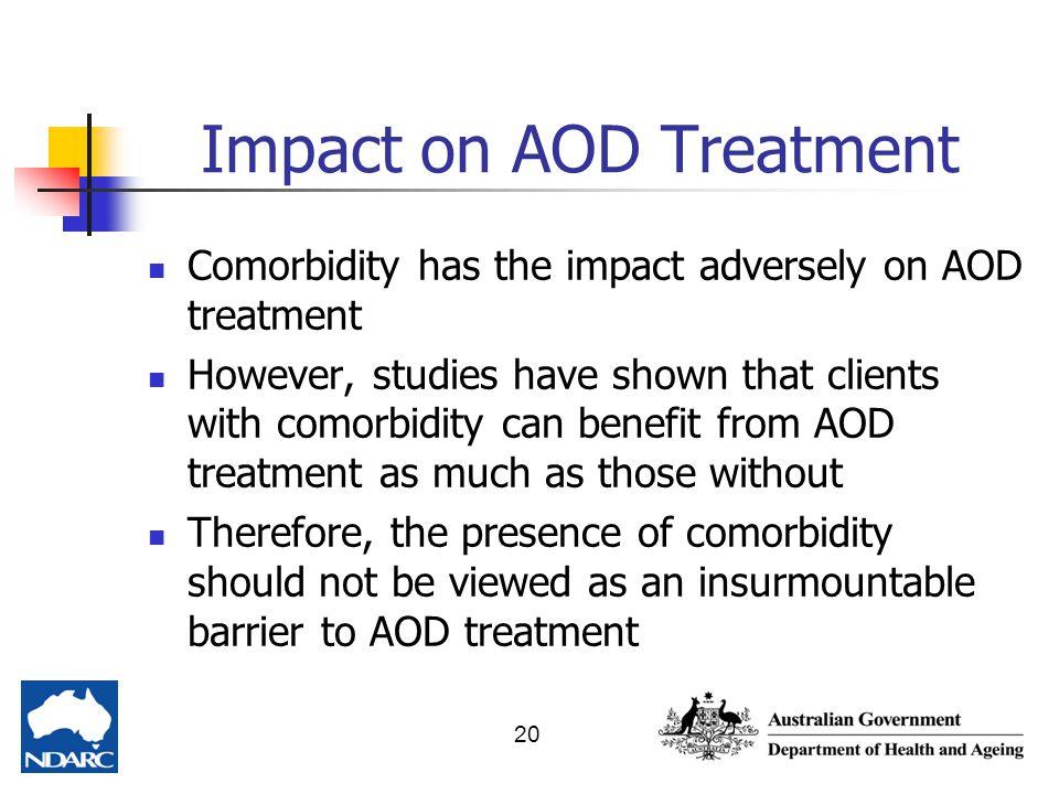 Impact on AOD Treatment