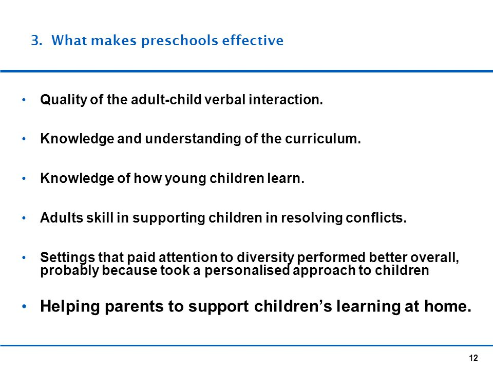 Helping parents to support children's learning at home.