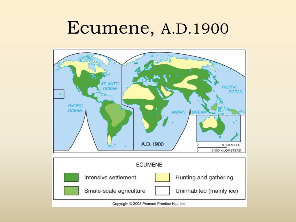 Ecumene, A.D.1900