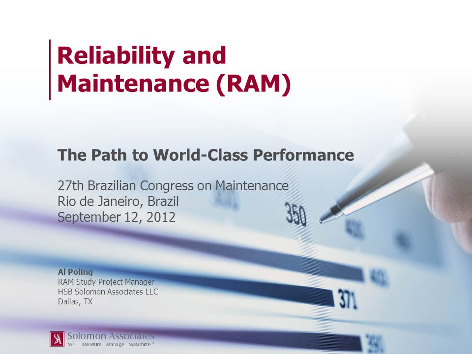 Reliability and Maintenance (RAM)