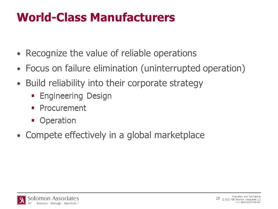 World-Class Manufacturers