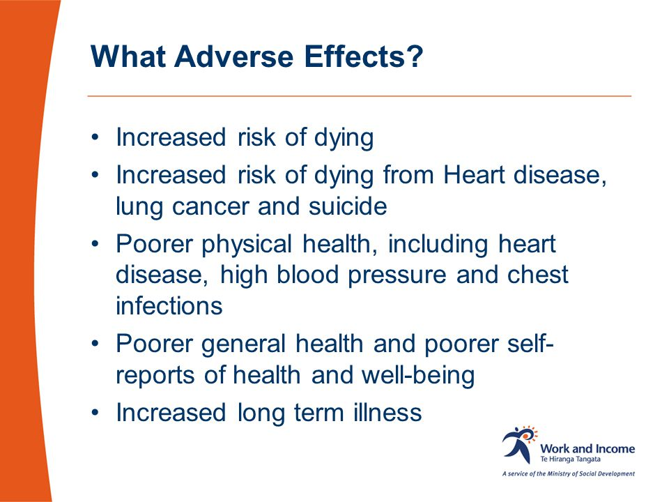 What Adverse Effects Increased risk of dying