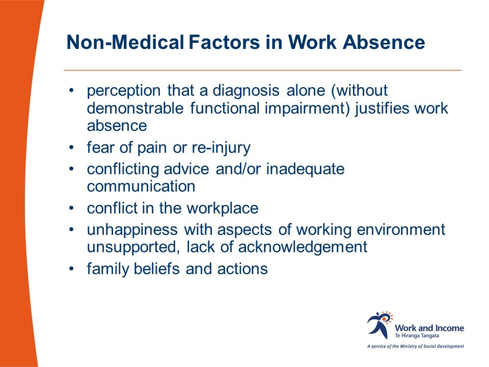 Non-Medical Factors in Work Absence