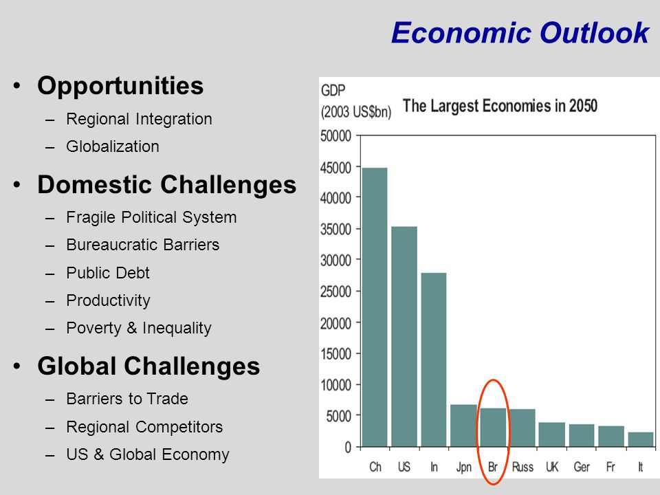Economic Outlook Opportunities Domestic Challenges Global Challenges
