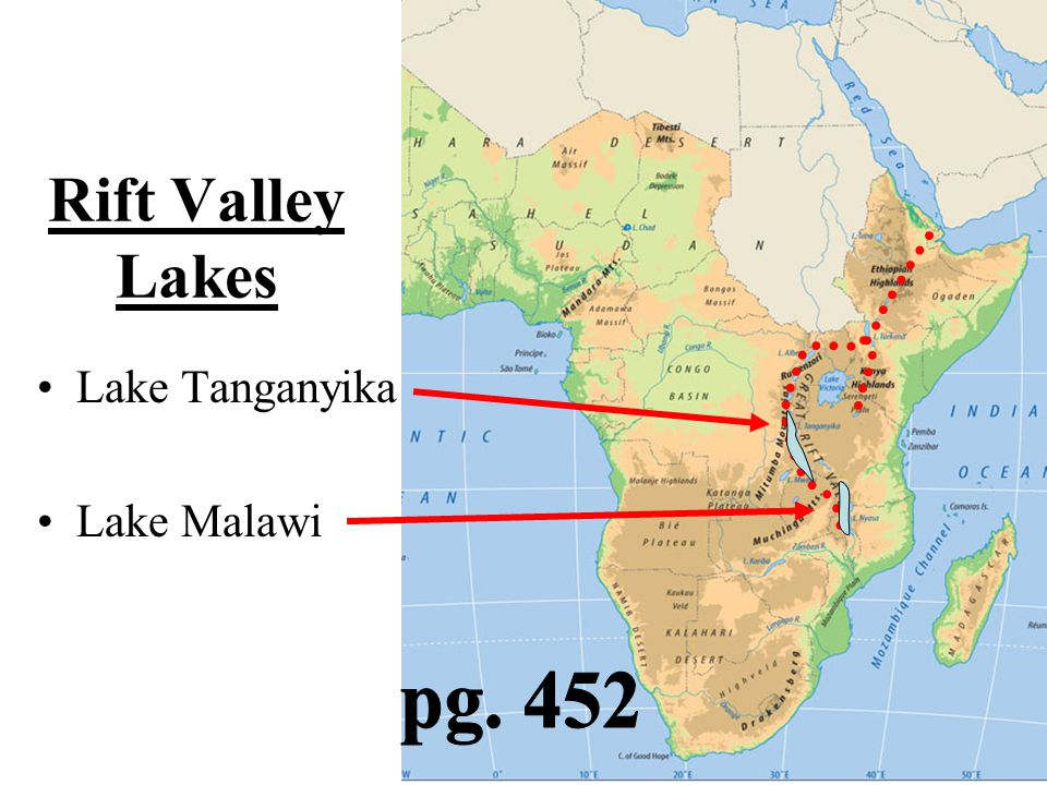 Rift Valley Lakes Lake Tanganyika Lake Malawi pg. 452