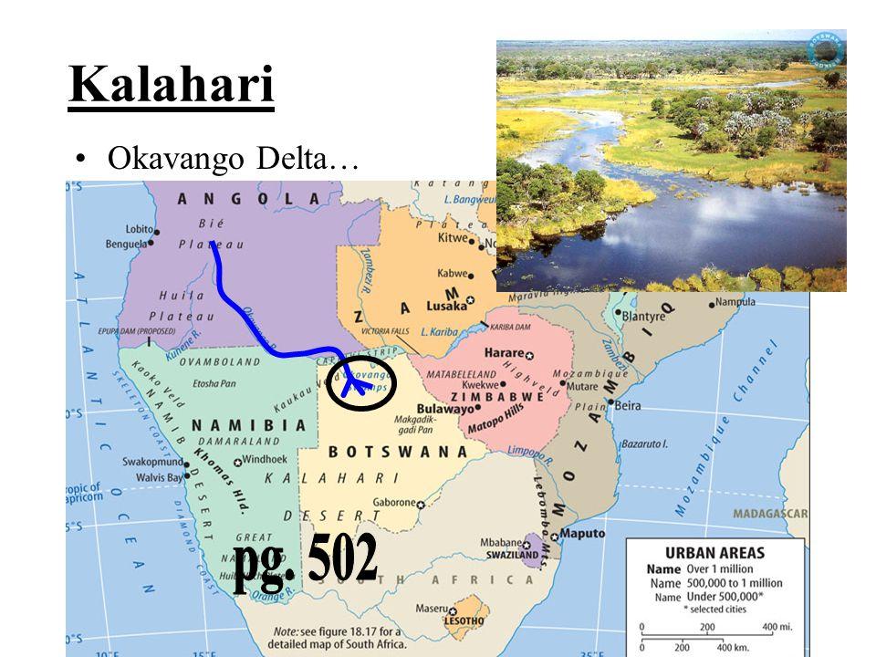 Kalahari Okavango Delta… pg. 502