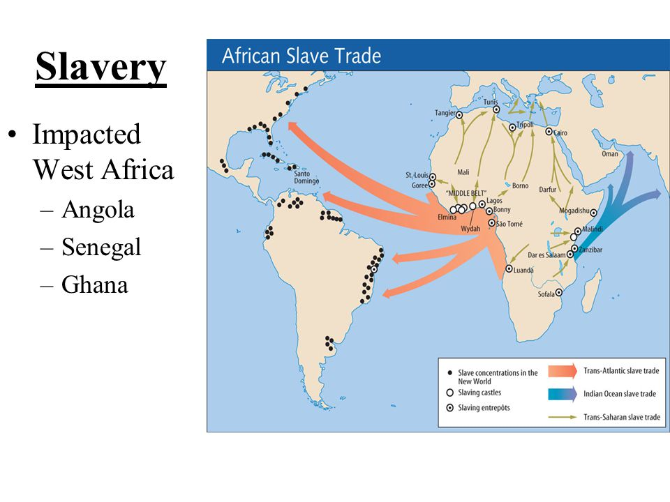 Slavery Impacted West Africa Angola Senegal Ghana