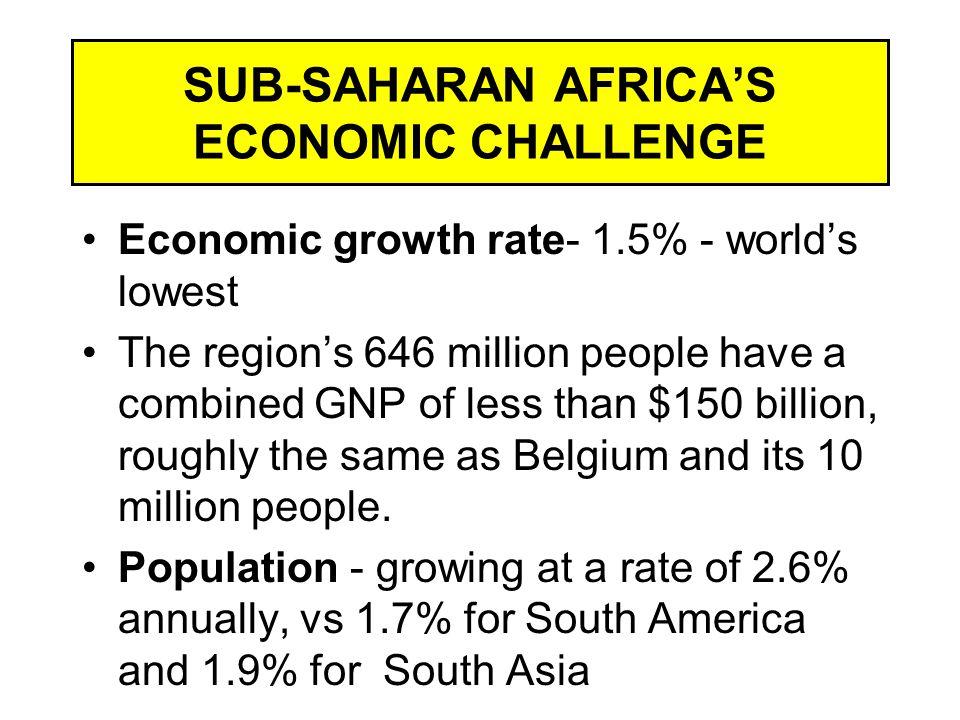 SUB-SAHARAN AFRICA'S ECONOMIC CHALLENGE