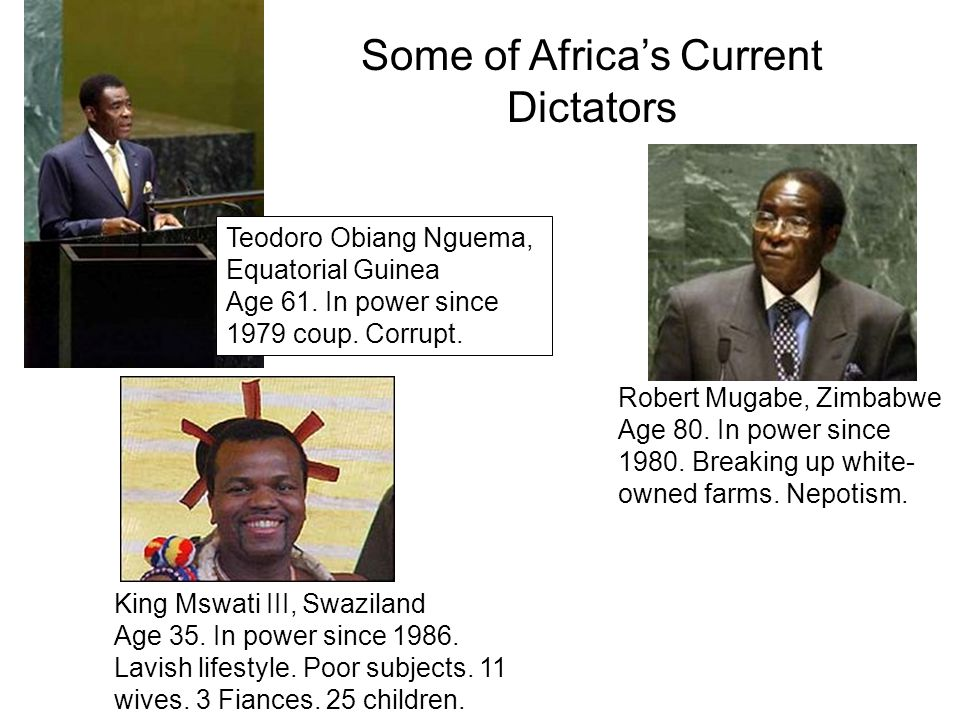 Some of Africa's Current Dictators