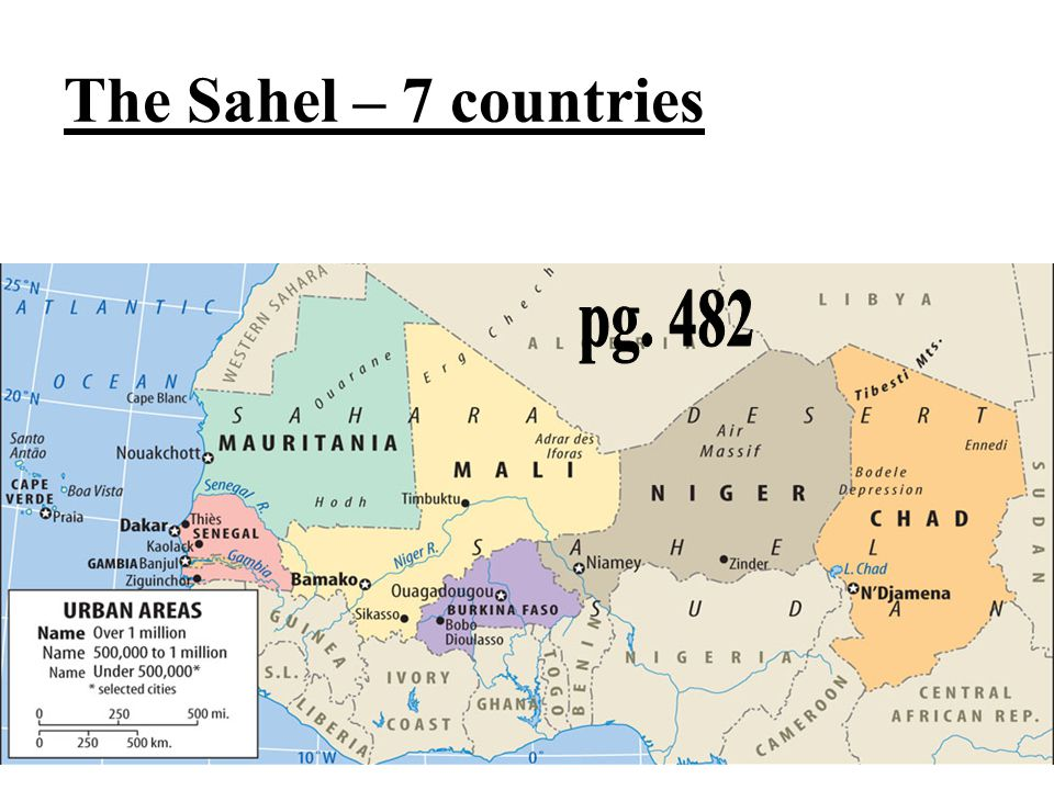 The Sahel – 7 countries pg. 482