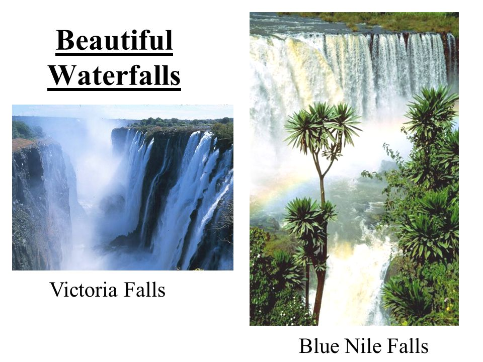 Beautiful Waterfalls Victoria Falls Blue Nile Falls