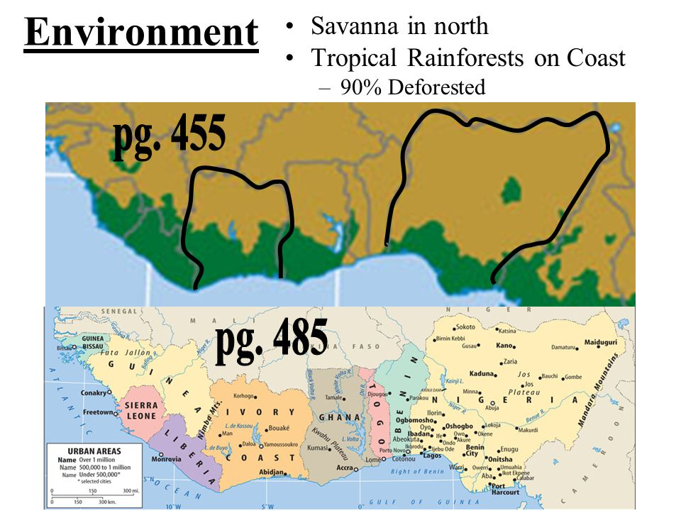 Environment pg. 455 pg. 485 Savanna in north