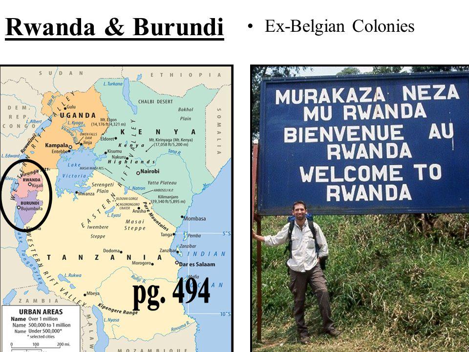 Rwanda & Burundi Ex-Belgian Colonies pg. 494