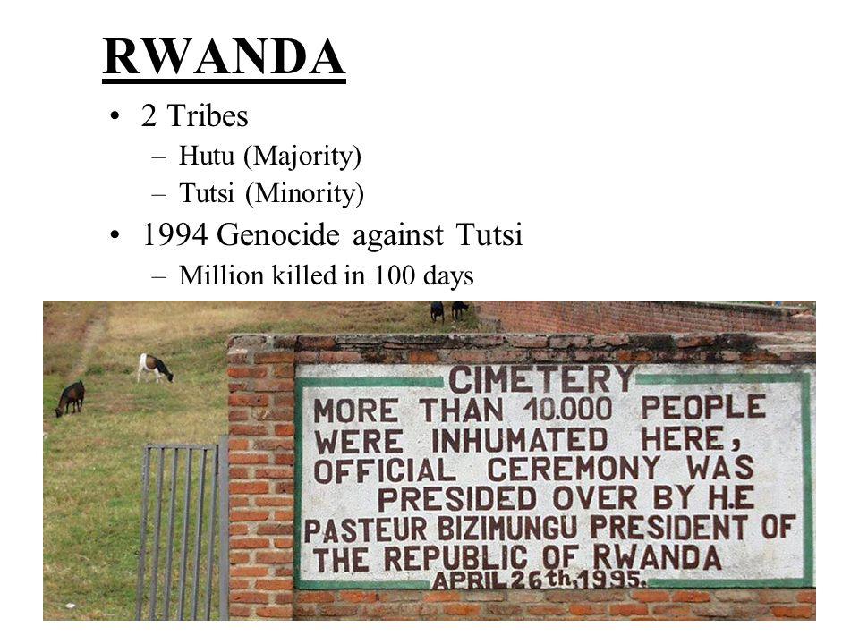 RWANDA 2 Tribes 1994 Genocide against Tutsi Hutu (Majority)
