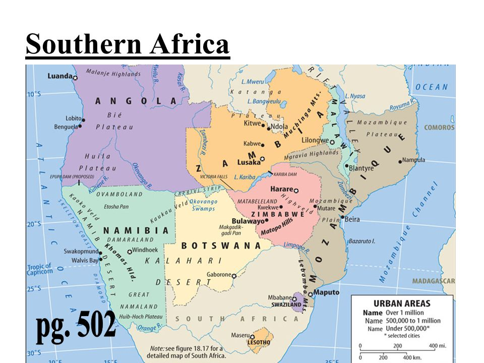 Southern Africa pg. 502