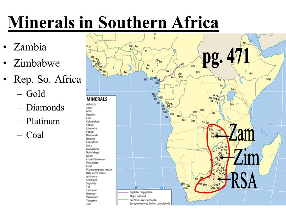 Minerals in Southern Africa