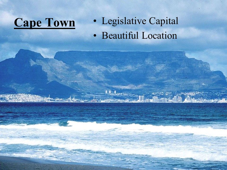 Cape Town Legislative Capital Beautiful Location
