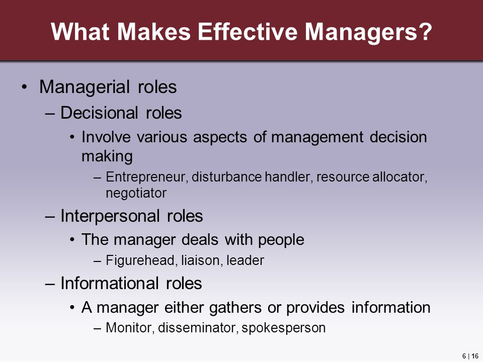 What Makes Effective Managers
