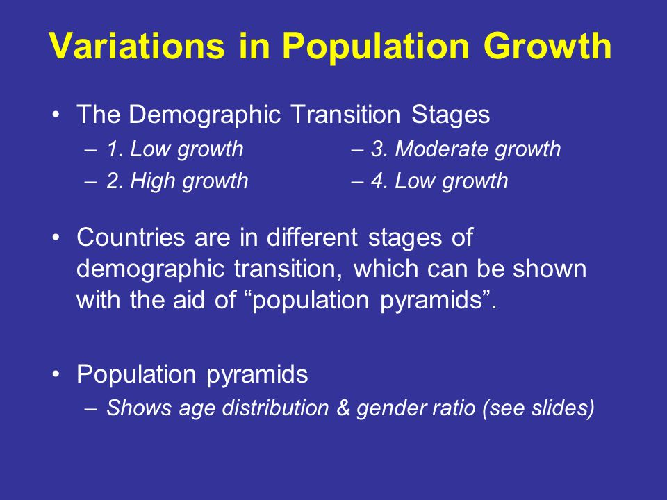 Variations in Population Growth